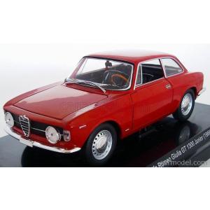 アルファロメオ ジュリア ミニカー 1/24 EDICOLA - ALFA ROMEO - GULIA GT 1300 JUNIOR 1966 RED|a-mondo2