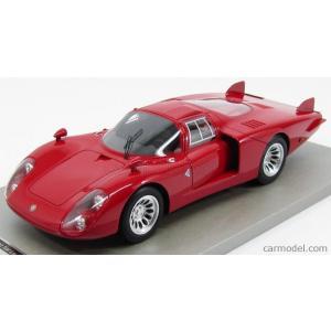 アルファロメオ ミニカー 1/18 TECNOMODEL - ALFA ROMEO - 33/2 PRESS LONG TAIL LE MANS PRESS 1968 RED|a-mondo2