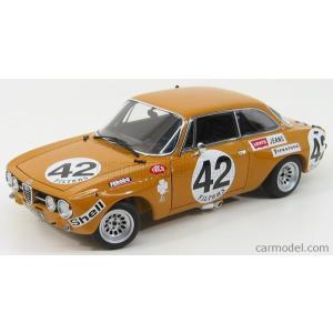 アルファロメオ ミニカー 1/18 オートアート AUTOART - ALFA ROMEO - GTAm N 42 SPA 1971 HEZEMANS OCHRE 87103|a-mondo2