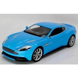 アストンマーチン ヴァンキッシュ ミニカー 1/24 ウェリー Aston Martin Vanquish Blue Diecast Car Model by Welly|a-mondo2