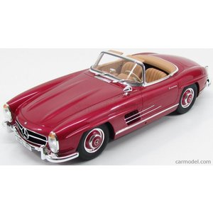 メルセデス ベンツ 300 SL ミニカー 1/12 GT-SPIRIT - MERCEDES BENZ - 300 SL ROADSTER W198 1957 RED - ROSSO FRAGOLA|a-mondo2