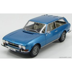 プジョー 504 ミニカー 1/18 BoS-MODELS - PEUGEOT - 504 BREAK RIVIERA 2-DOOR 1971 BLUE MET BOS058|a-mondo2