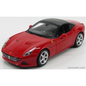 フェラーリ カリフォルニア ミニカー 1/18 ブラーゴ BURAGO - FERRARI - CALIFORNIA T SPIDER CLOSED ROOF 2014 RED a-mondo2