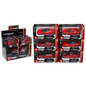 フェラーリ ミニカー セット 1/43 ブラーゴ 6 Pieces Ferrari Assortment Set A Diecast Model Cars by Bburago|a-mondo2