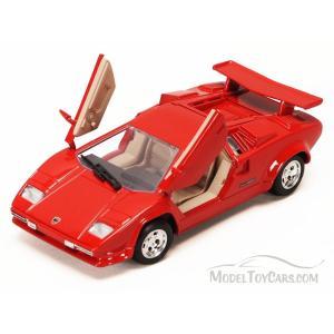 ランボルギーニ カウンタック ミニカー 1/24 モーターマックス Lamborghini Countach Red Diecast Model Car by Motormax|a-mondo2
