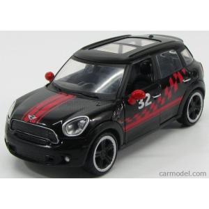 ミニクーパー カントリーマン ミニカー 1/24 モーターマックス MOTOR-MAX - MINI - COOPER S COUNTRYMAN N 32 2013 BLACK RED|a-mondo2