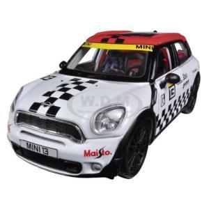 ミニクーパー カントリーマン ミニカー 1/24 マイスト Mini Cooper Coutryman White #13 Diecast Car Model by Maisto|a-mondo2