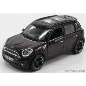 ミニクーパー カントリーマン ミニカー 1/24 マイスト MAISTO - MINI - COUNTRYMAN COOPER S ALL4 R60 2010 BROWN MET BLACK|a-mondo2