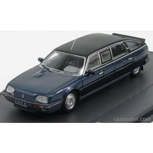 シトロエン CX リムジン ミニカー 1/43 MATRIX SCALE MODELS - CITROEN - CX PRESTIGE TURBO 2 TISSIER LIMOUSINE DDR HONECKER 1986 BLUE MET MATT BLACK|a-mondo2