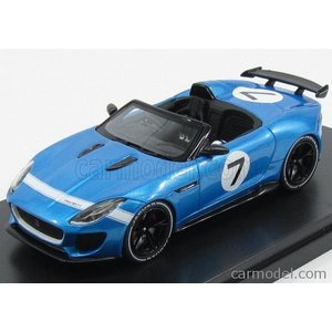 ジャガー Fタイプ ミニカー 1/43 PREMIUM-X - JAGUAR - F-TYPE SPIDER N 7 PROJECT GOODWOOD FESTIVAL 2013 BLUE MET|a-mondo2