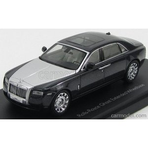 ロールスロイス ゴースト ミニカー 1/43 京商 KYOSHO - ROLLS ROYCE - GHOST EWB LONG LHD 2011 DARKEST TUNGSTEN MET|a-mondo2
