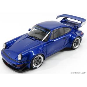 ポルシェ 911 ミニカー 1/18 GT-SPIRIT - PORSCHE - 911 964 RWB COUPE 1990 BLUE MET ZM100|a-mondo2