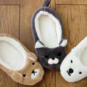 アニマルスリッパ 犬 猫 シロクマ かわいい スリッパ 秋冬用 あったか ルームシューズ a-oluolu