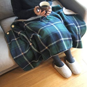 3wayポンチョ  6カラー ひざかけ ポンチョ スカート かわいい 秋冬用 あったか チェック a-oluolu