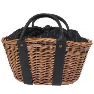 天然素材 柳 かごバッグ ブラック バスケット 巾着 サマーバッグ レディースバッグ a-oluolu