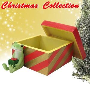 コポー Copeau かわいい カエルの置物 プレゼントBOX 小物入れ かえる 蛙 雑貨 クリスマス a-oluolu
