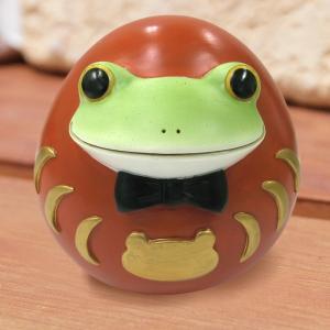 コポー Copeau かわいい カエルの置物 コポダルマ赤 縁起物 a-oluolu