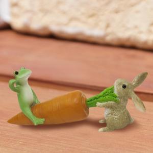 コポー Copeau かわいい カエルの置物 イースター うさぎの綱引 かえる 蛙 雑貨 ガーデニング a-oluolu