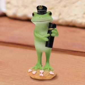 コポー Copeau かわいい カエルの置物 卒業おめでとう! かえる 蛙 雑貨 ガーデニング a-oluolu