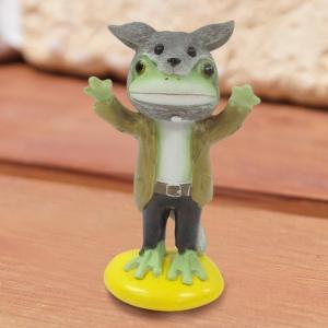 ハロウィン コポー Copeau かわいい カエルの置物 狼コポタロウ かえる 蛙 雑貨 ガーデニング|a-oluolu