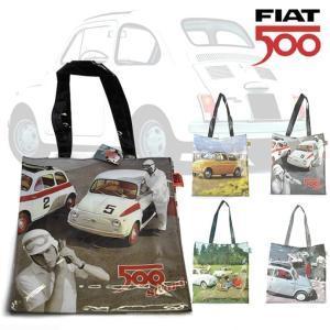 FIAT500のおしゃれなバッグ レトロなクルマのデザインがオシャレな フィアット500 ショッパートートバッグ (全4種)|a-oluolu