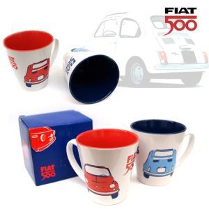 おしゃれなマグカップ レトロなデザインがかっこいい 名車 FIAT500 フィアット マグカップ 全2種|a-oluolu