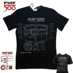 【メール便可】 FIAT500 フィアット メンズ Tシャツ MサイズBLACK  FITS52 イタリア おしゃれ|a-oluolu