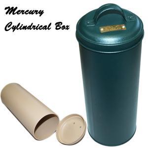 MERCURY マーキュリー ヴィンテージ アメリカンカラー シリンドリカルボックス HANTERGREEN キッチン収納 小物入れに|a-oluolu