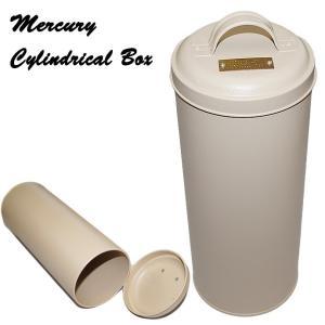 MERCURY マーキュリー ヴィンテージ アメリカンカラー シリンドリカルボックス SANDBEIGE キッチン収納 小物入れに|a-oluolu