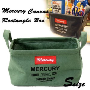 MERCURY キャンバスレクタングルボックス Sサイズ カーキ|a-oluolu