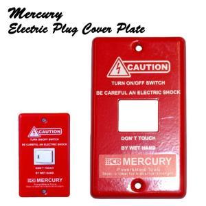 メール便可 MERCURY マーキュリー スイッチプレート 1ヶ口 RED インテリア アメリカン雑貨|a-oluolu