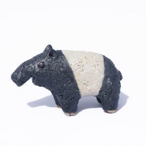 手作り 信楽焼き バク 子 かわいい 動物 置物 雑貨 陶器 陶芸 小物 a-oluolu