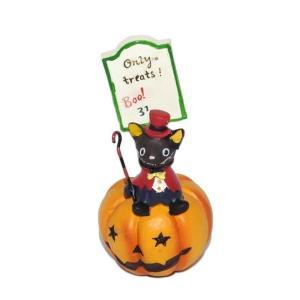 ハロウィン 雑貨 おしゃれ 置物 飾り バンパイヤキャットサイン 猫グッズ|a-oluolu