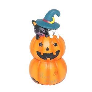 ハロウィン 雑貨 おしゃれ 置物 飾り ウィッチハットハイドペアM 猫グッズ|a-oluolu