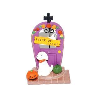 ハロウィン 雑貨 おしゃれ 置物 飾り グレープパンプキンドアドッグ 犬グッズ|a-oluolu