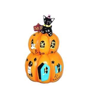 ハロウィン 雑貨 おしゃれ 置物 飾り トリックキャットマンション 猫グッズ|a-oluolu