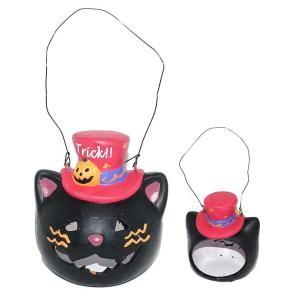 ハロウィン 雑貨 おしゃれ 置物 飾り トリックマジシャンズキャットランタン 猫グッズ|a-oluolu