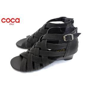 coca ウエッジソール ブーツサンダル ブラック|a-one1