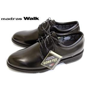 madras Walk MW5501 完全防水 GORE-TEX プレーントゥ 幅広 レースアップ ブラック|a-one1