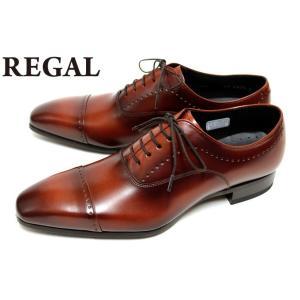 リーガル REGAL 靴 メンズ ビジネスシューズ 11LR BD 本革 ストレートチップ メダリオ...