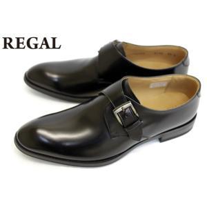 リーガル REGAL 靴 メンズ ビジネスシューズ 813R 本革 モンクストラップ ブラック