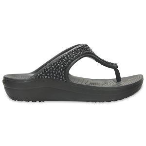 クロックス スローン エンベリッシュド フリップ ウィメン crocs sloane embellished flip w/在庫処分 店頭戻り品|a-outlet