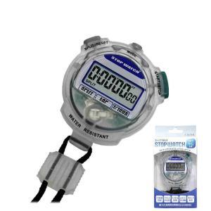 [カード払・代引可]クレファーCREPHA・デジタルストップウォッチTEV-4013-CL★新品★3気圧防水 カウントダウン計測