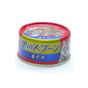 ねこ元気 銀のスプーン 缶 80g まぐろ|a-pet