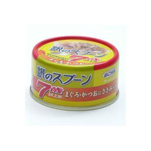 ねこ元気 銀のスプーン 缶 7歳以上用 80g まぐろ・かつおに ささみ入り|a-pet