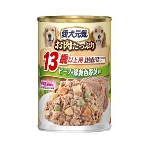 愛犬元気缶 13歳からの愛犬用 ビーフ&チキン・野菜 375g |a-pet