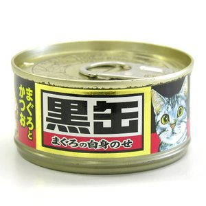 黒缶ミニ まぐろとかつお 80g  a-pet