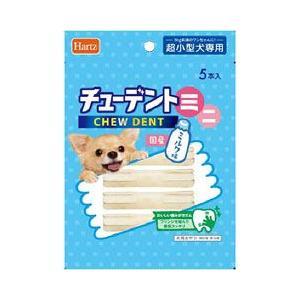 ハーツ 犬用おやつ チューデントミニ 超小型犬用 ミルク味 5本入|a-pet