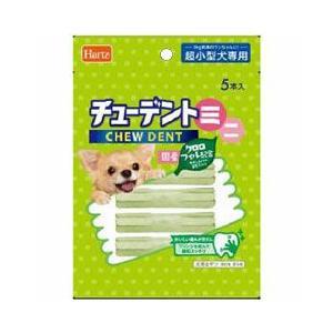 ハーツ 犬用おやつ チューデントミニ 超小型犬用 クロロフィル配合 5本入|a-pet