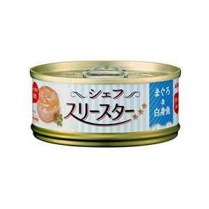 アイシア シェフ スリースター テリーヌ まぐろ&白身魚 60g キャットフード ウェット 缶詰 a-pet